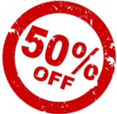 50 por cento off